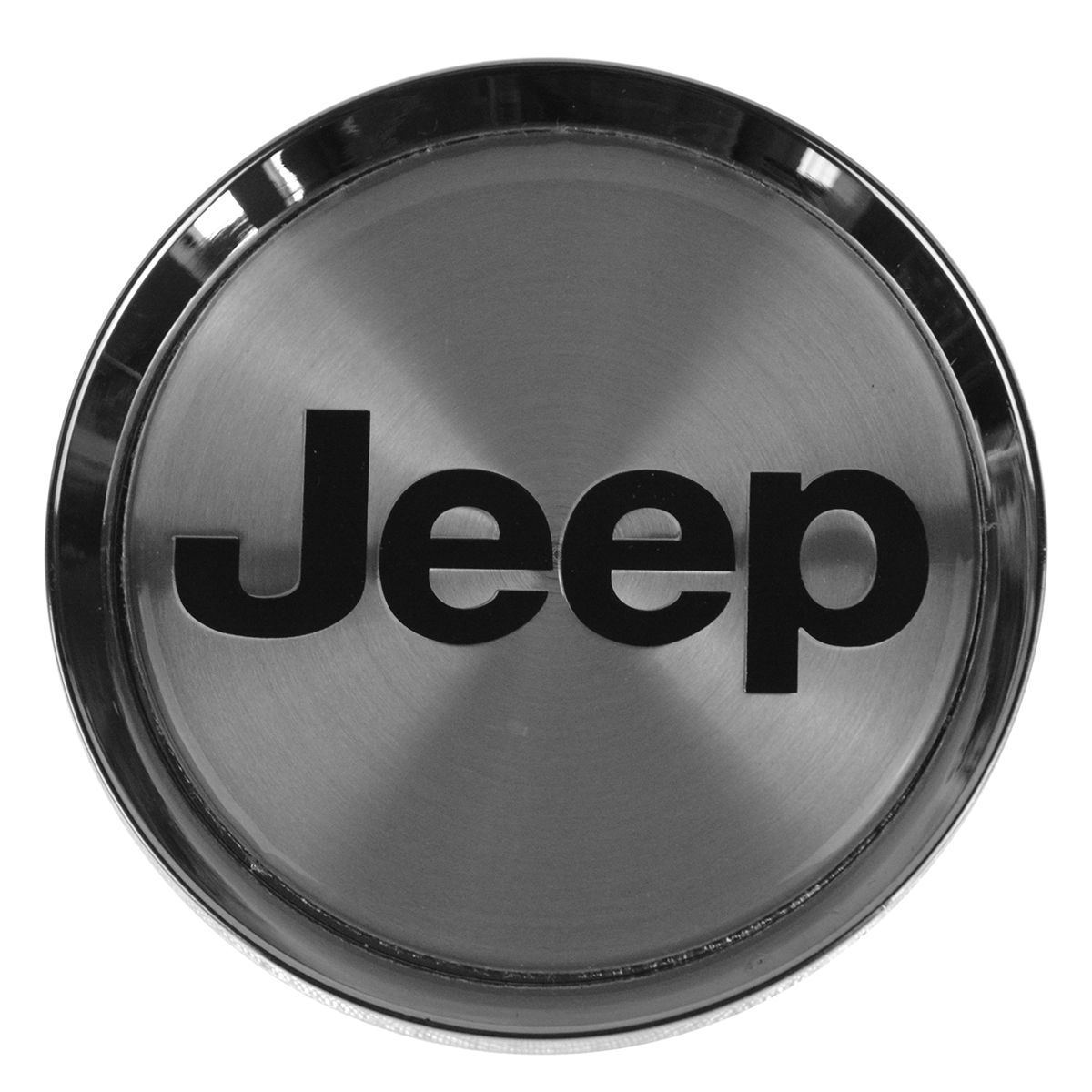 01-04 JEEP GRAND CHEROKEE CENTER CAP CHROME WITH BLACK JEEP LETTERING OEM MOPAR
