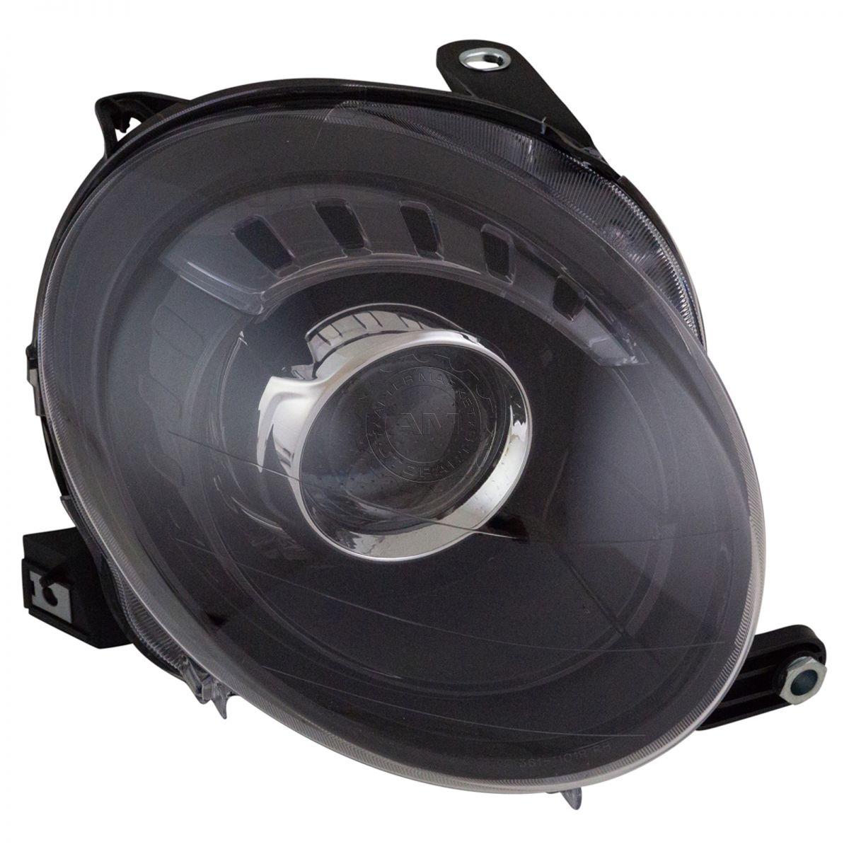 halogen headlight lamp assembly w/ black trim rh passenger side for