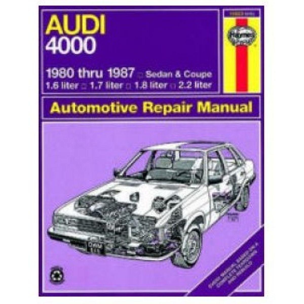 Haynes Repair Manual for Audi 4000 80 81 82 83 84 85 86 87