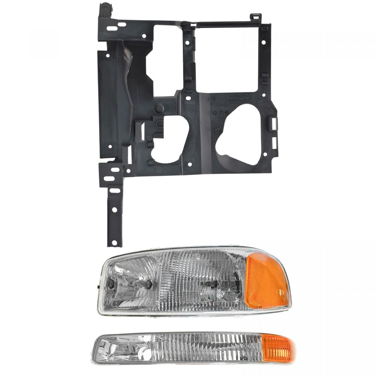 Headlight Parking Light Lamp Mounting Bracket Kit LH Set for 99-02 Chevy Truck