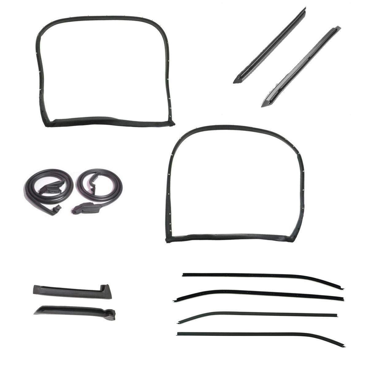 Weatherstrip Seal Kit 12 Piece Set for 73-77 Chevy Corvette Coupe w// T-Top New