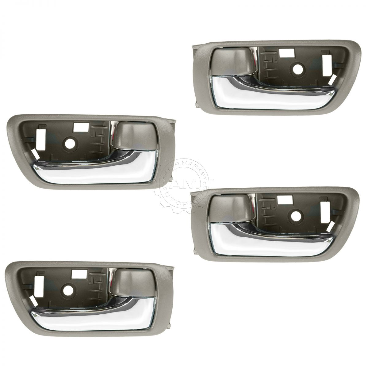 Door handles inside interior brown chrome kit set of 4 for - 2002 toyota camry interior door handle ...