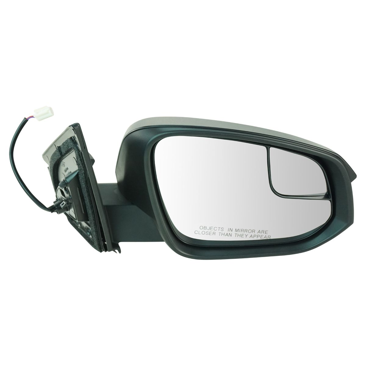 Side View Power Mirror with Spotter Glass Textured RH for Toyota Rav4 SUV New