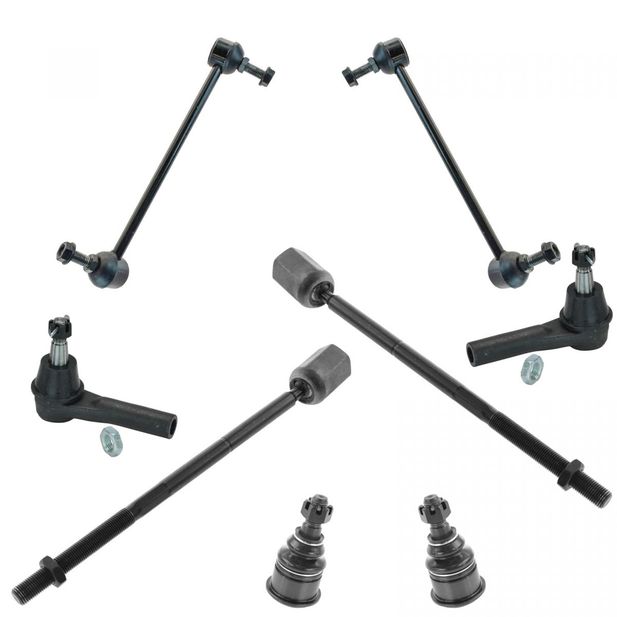 8 Piece Suspension Control Arm Tie Rod Kit Front For 92 96: Suspension Ball Joint Tie Rod Ends Sway Bar Front Set Kit