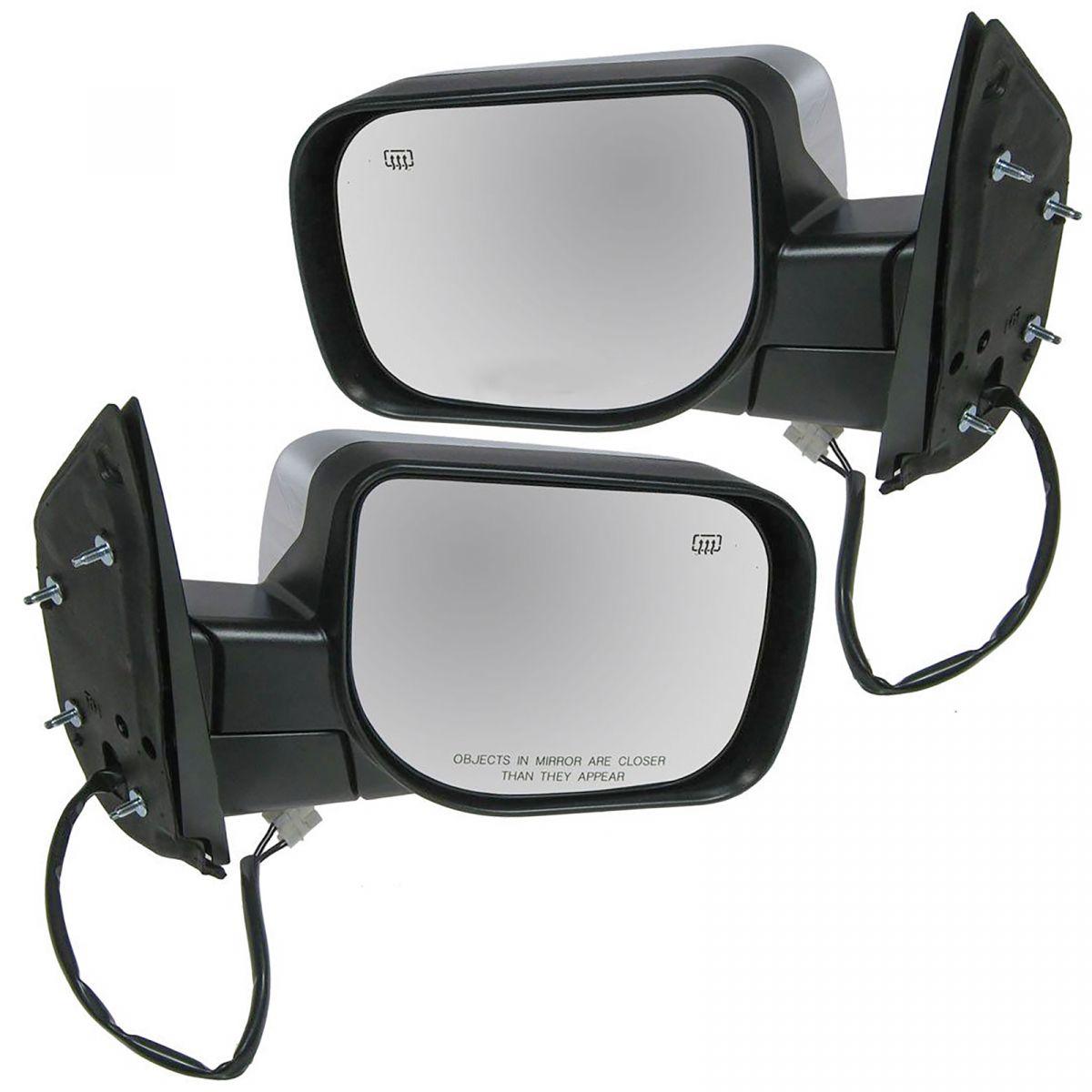 Mirrors Power Heated Chrome LH & RH Pair Set for Armada Titan Pathfinder QX56