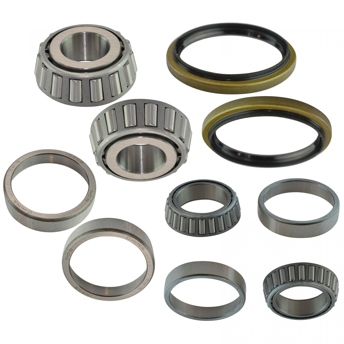 6 Piece Inner /& Outer Wheel Bearing Race w//Seal Kit LH /& RH Sides for Toyota