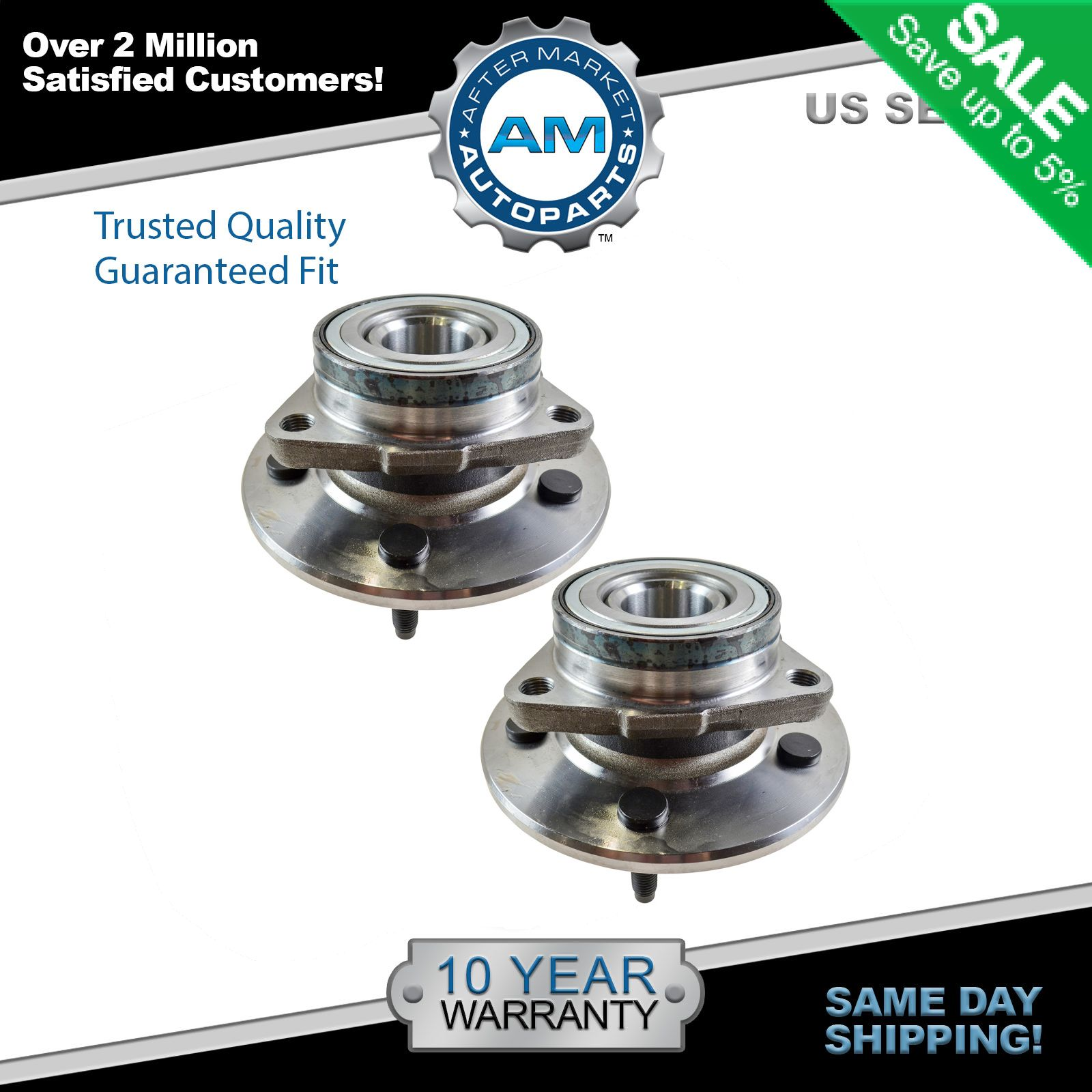 Front Wheel Hub Bearing Assembly New For 1997 1998 1999 2000 Ford F150 4X4 4WD