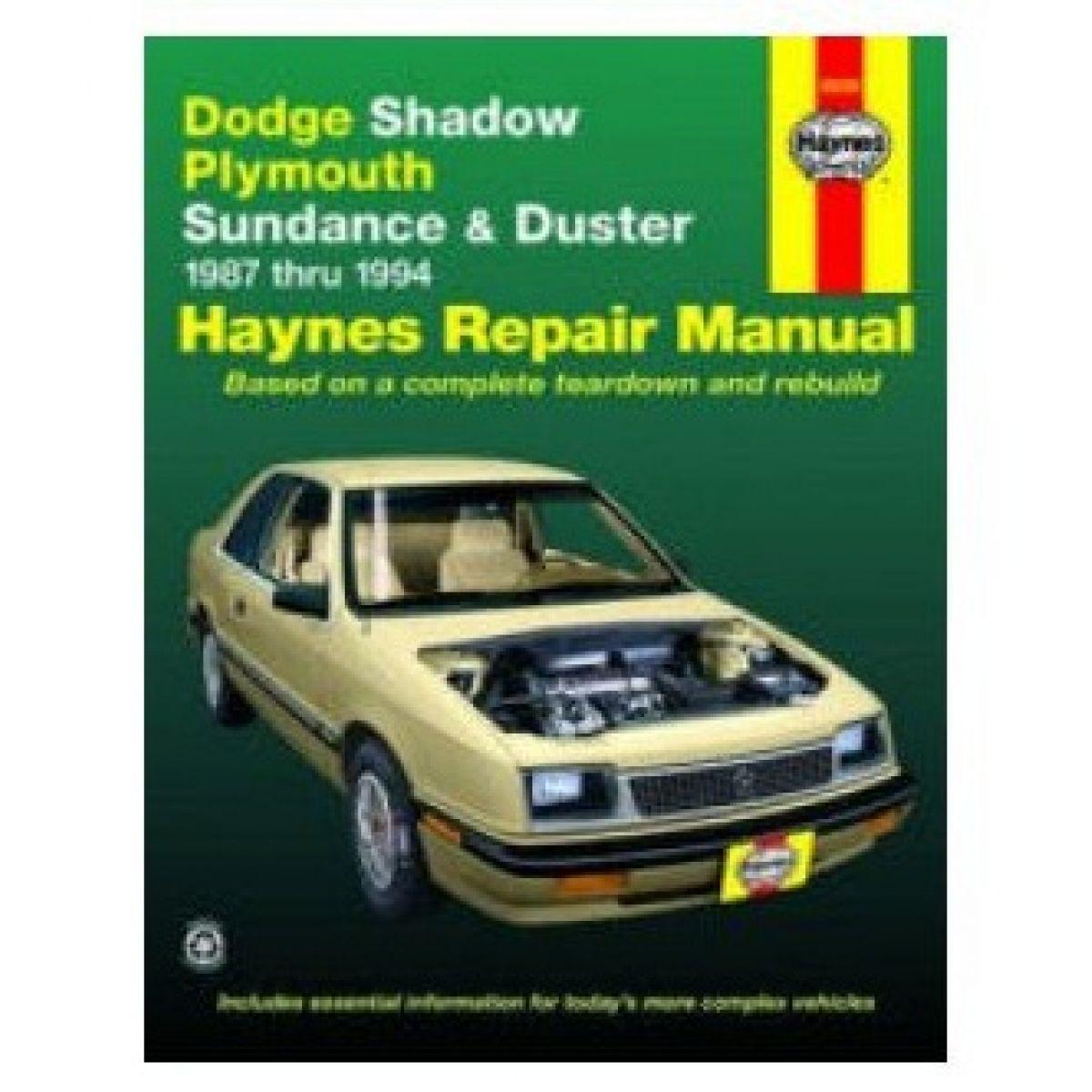 Haynes Repair Manual for 1987-1994 Shadow Duster Sundance