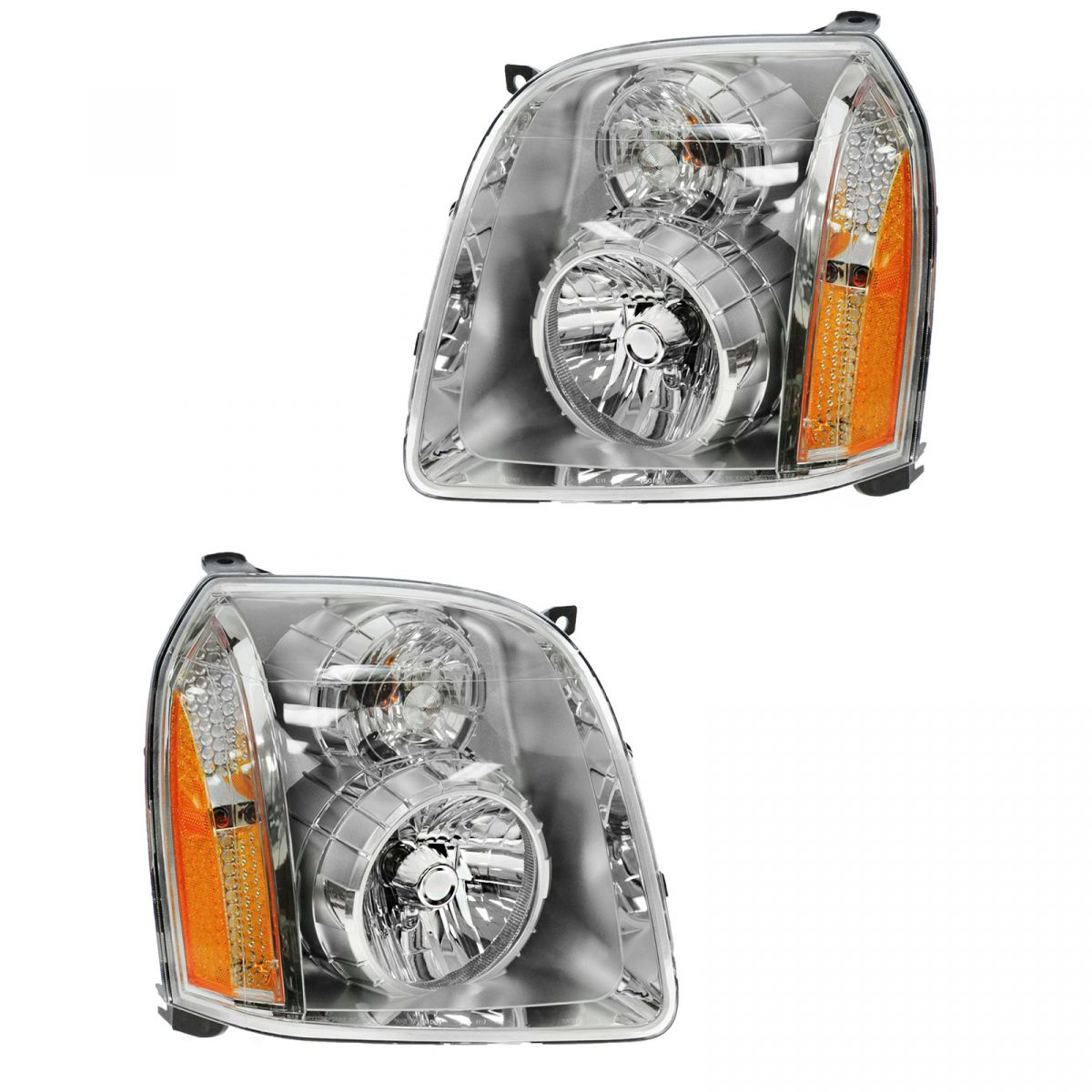 Headlights Headlamps Left & Right Lamp Pair Set of 2 for 07-13 GMC Yukon Denali