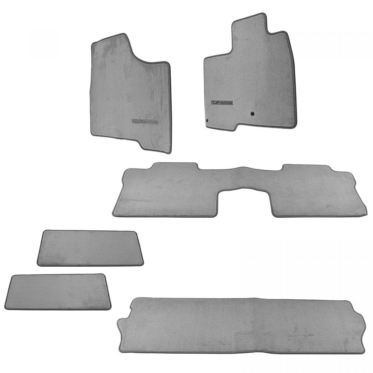 Oem Carpet Floor Mat Stone Gray Kit Set Of 6 For Toyota Sienna Van