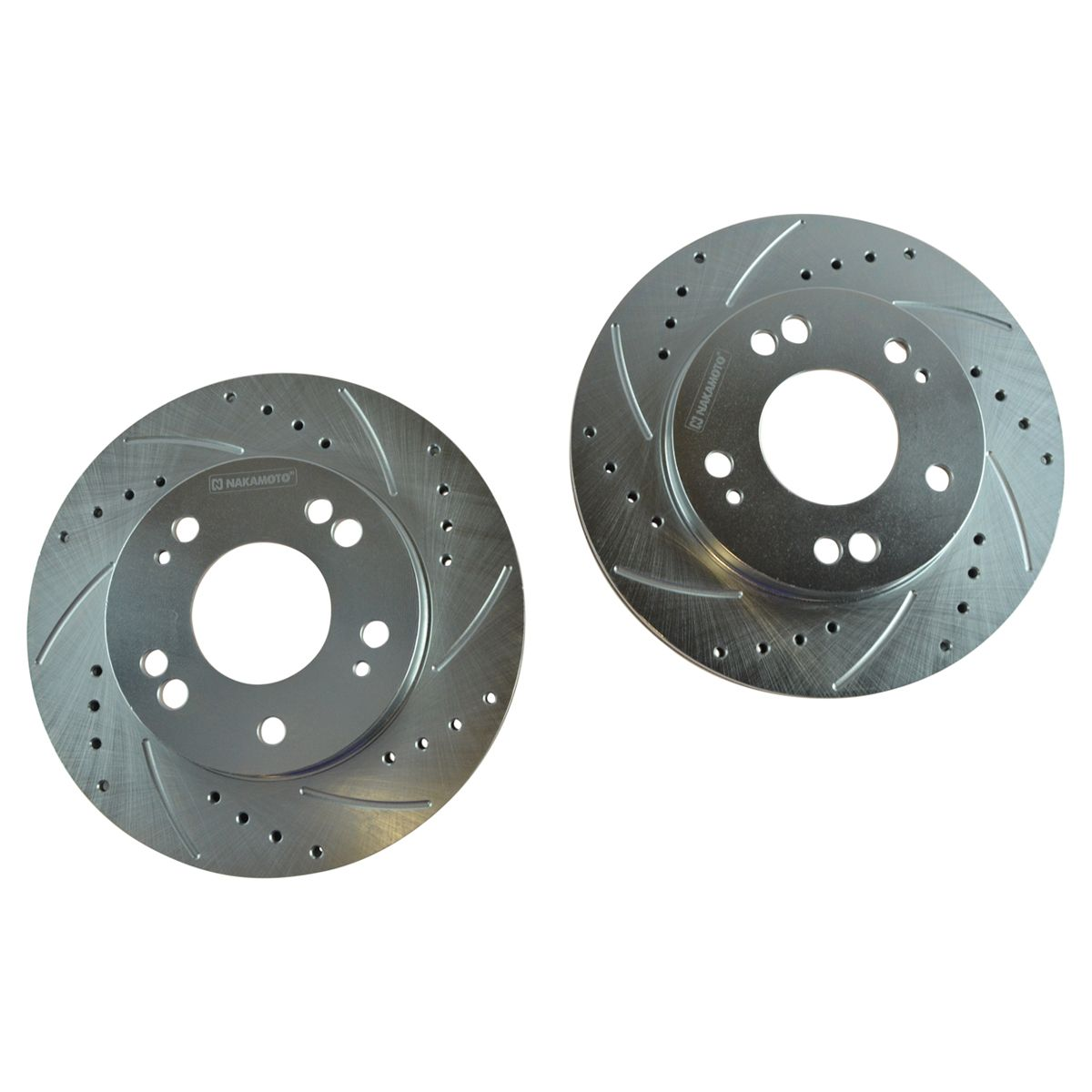 4 Semi-Metallic Pads High-End Front Kit 2 Cross-Drilled Disc Brake Rotors Fits:- 5lug