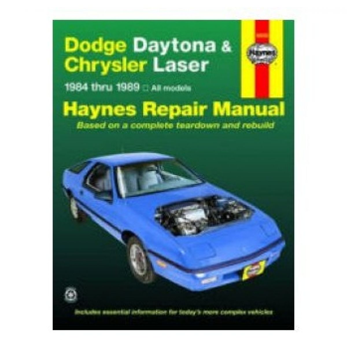 Haynes Repair Manual for 84-89 Dodge Daytona Chrysler Laser