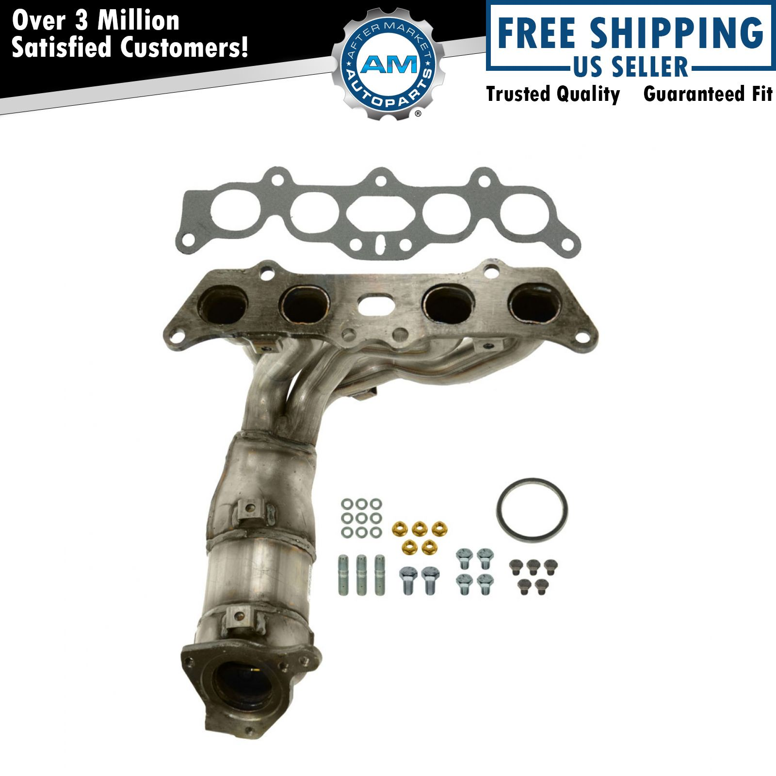 Toyota Solara Exhaust Manifold Engine System Intake: Exhaust Manifold W/ Catalytic Converter & Gasket Kit NEW