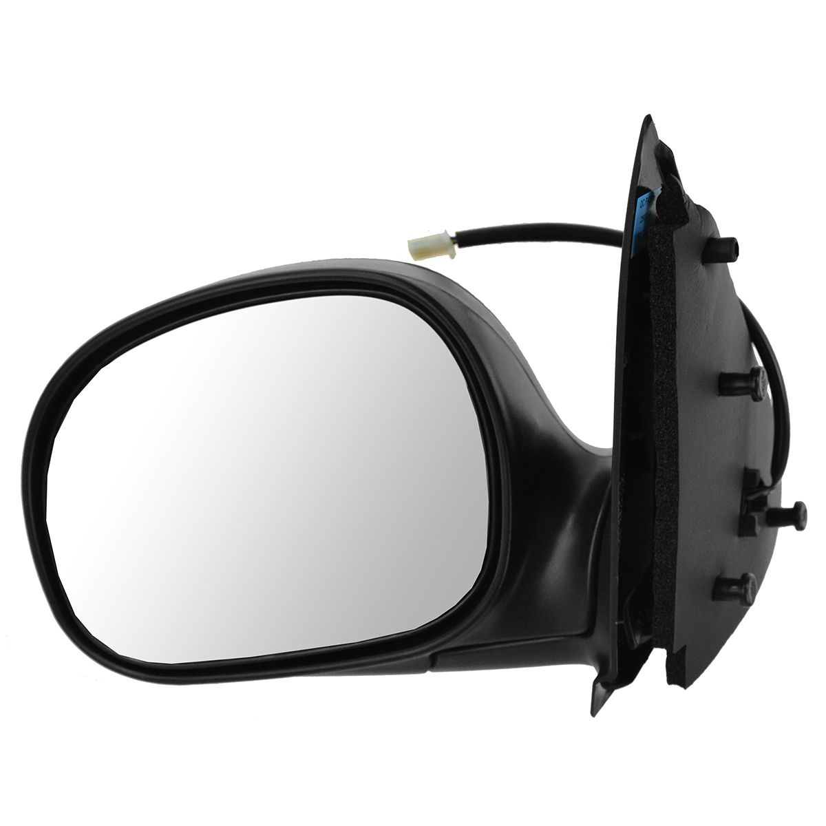 Mirror Side View Power Textured Black LH Left Driver Side