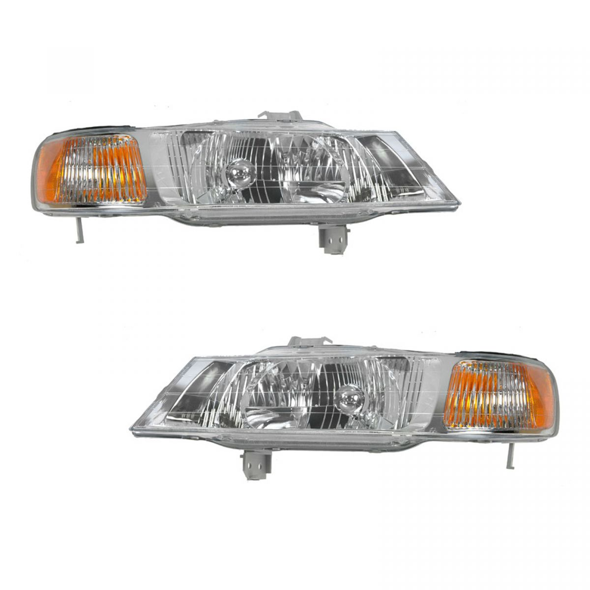 headlights headlamps left right pair set new for 99 04. Black Bedroom Furniture Sets. Home Design Ideas