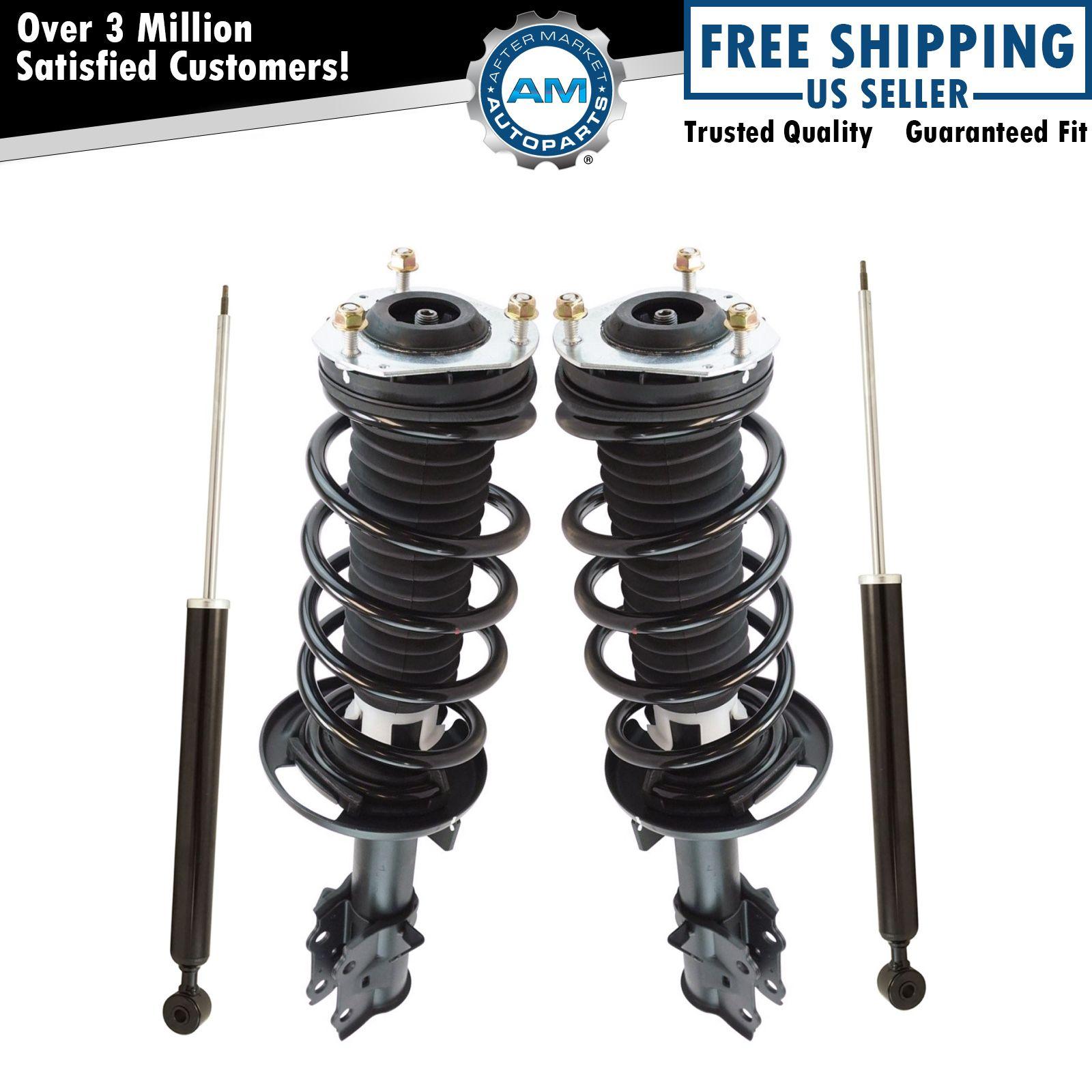 Front Rear Loaded Complete Strut Spring Assembly Shock Absorber Kit Set 4pc