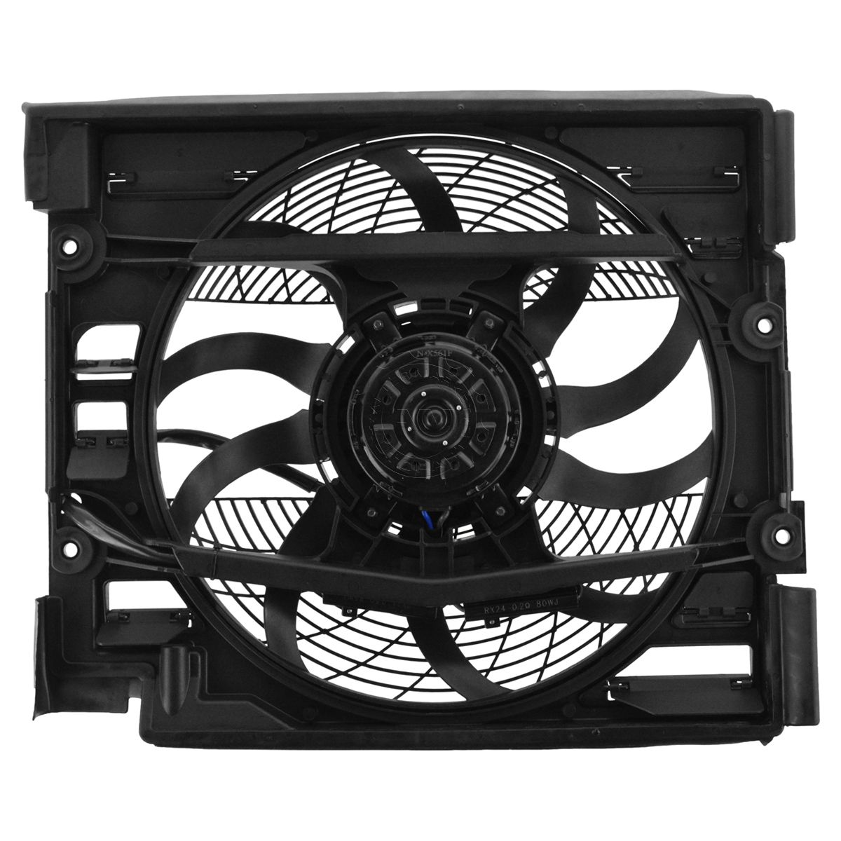 AC Condenser Auxiliary Cooling Fan Motor Blade Shroud Assembly for BMW 528i 540i
