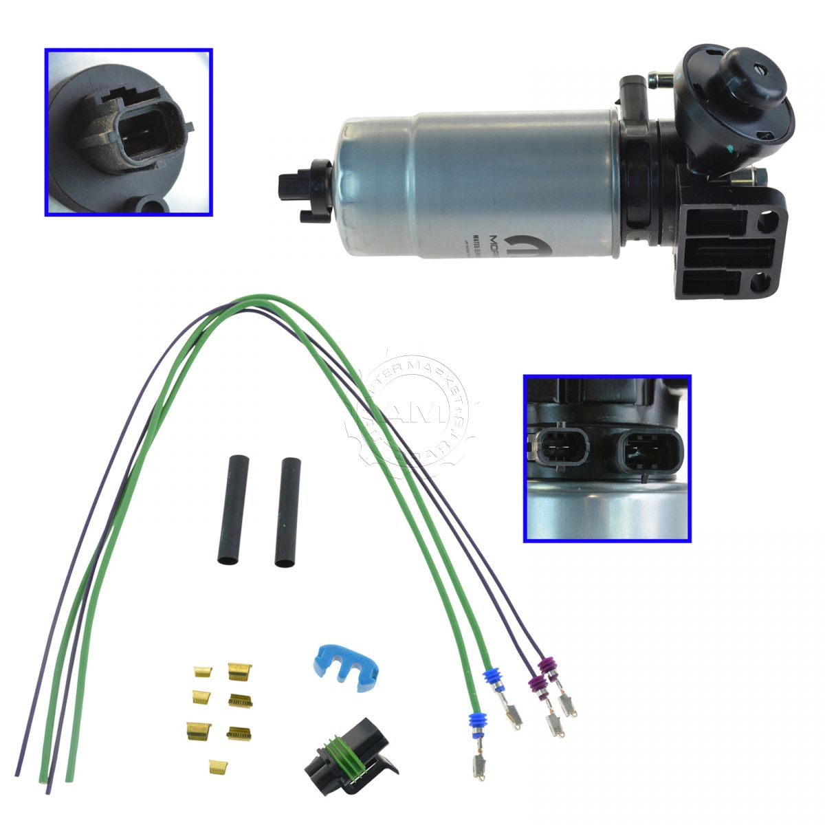 Oem Mopar Oil Filter Water Separator With Wire Harness Kit For Jeep Liberty 2 8l