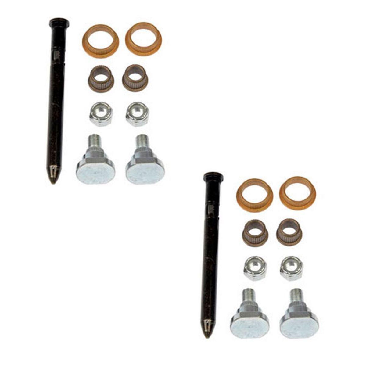 Dorman Upper /& Lower Door Hinge Pin /& Bushing Lock Nut Kit for Firebird Camaro