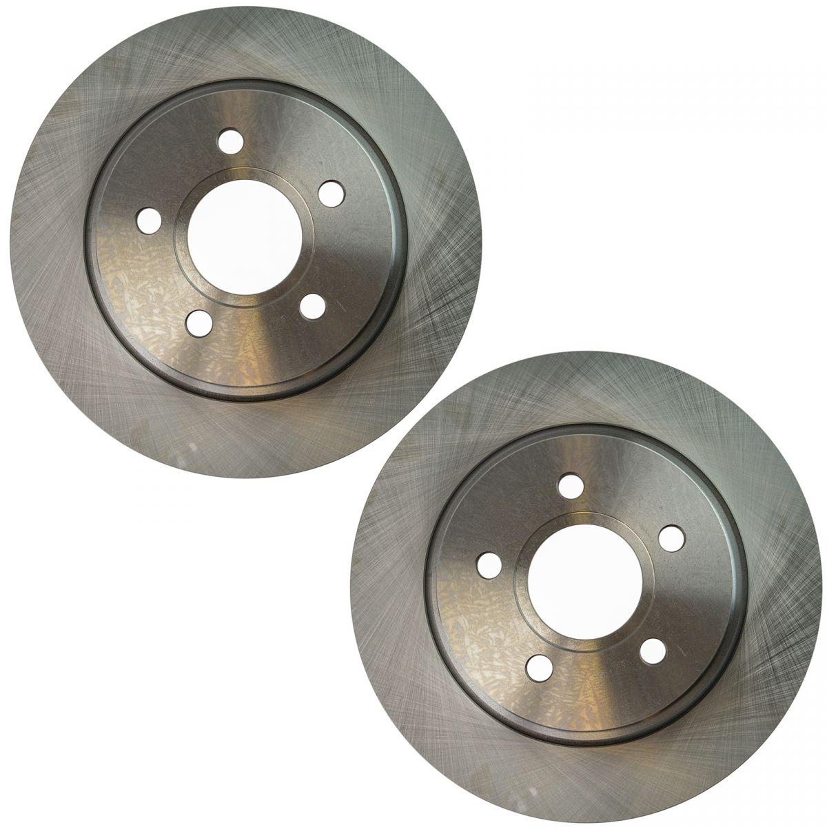 Rear Driver /& Passenger Side Disc Brake Rotor Pair for Volvo S40 C70 V50 C30