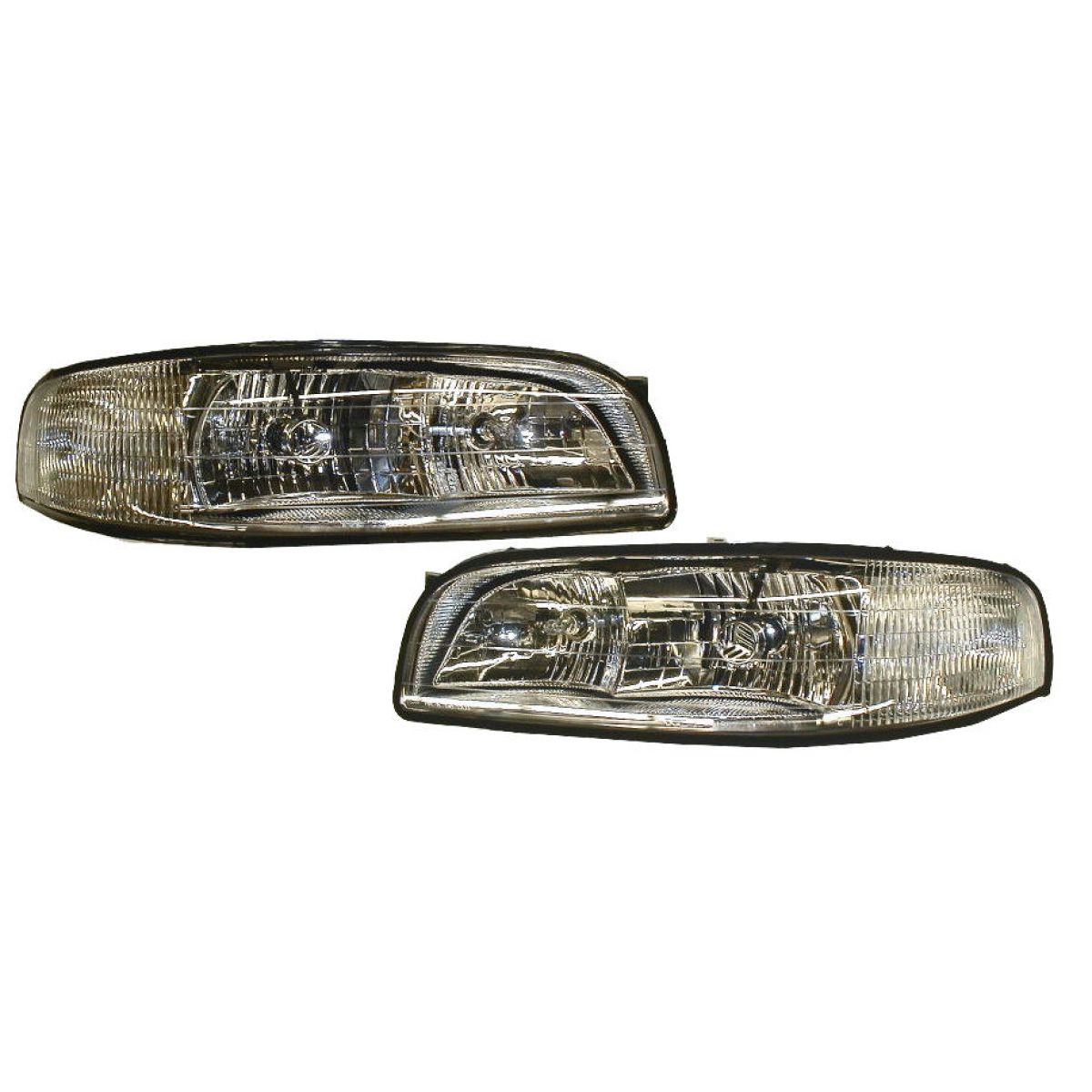 Headlights Headlamps w/ Cornering Lamps Left & Right Pair Set for 97-99 LeSabre