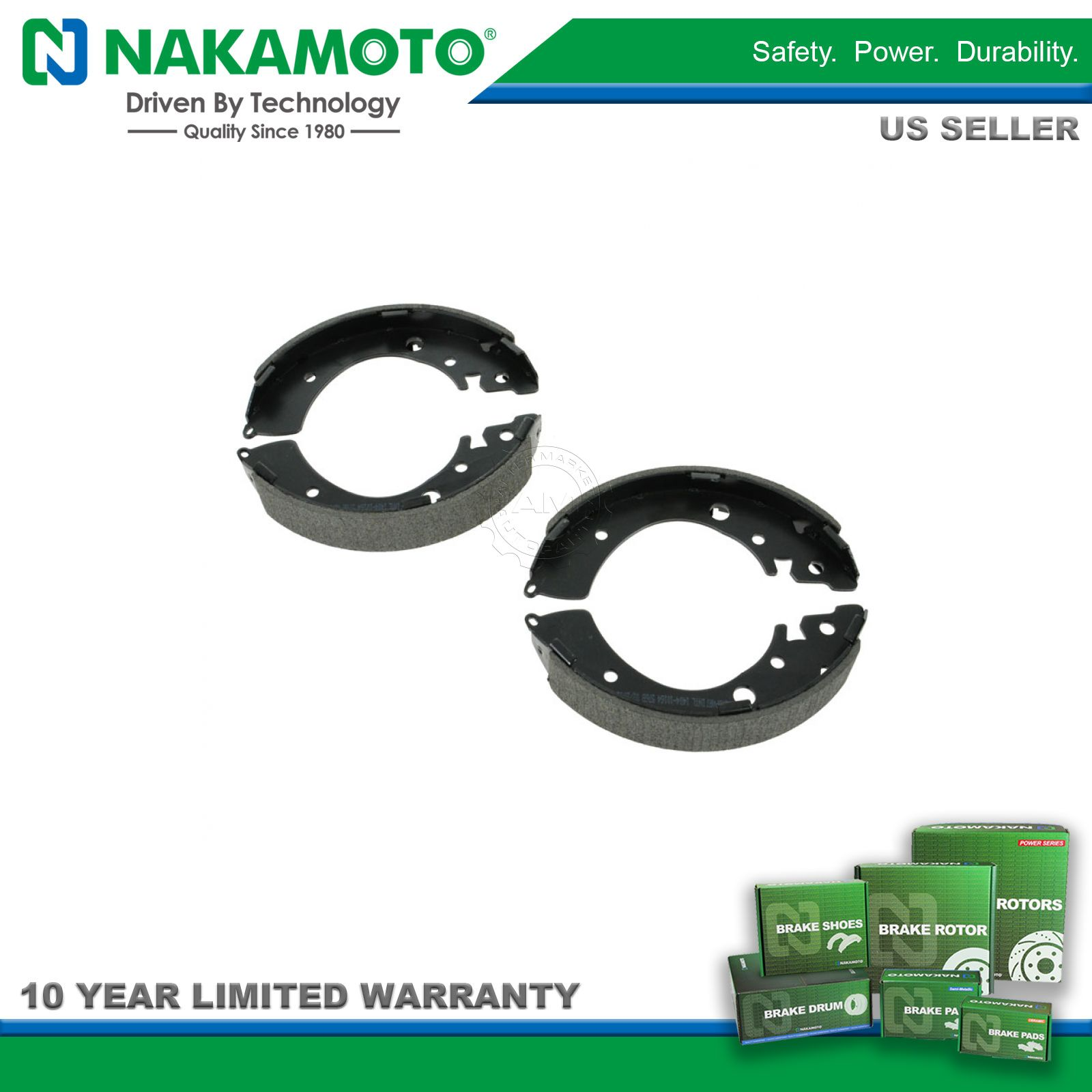 Nakamoto Rear Drum Brake Shoes Left Right Set Kit For Honda Civic Diagram Brakes P Image Is Loading Amp