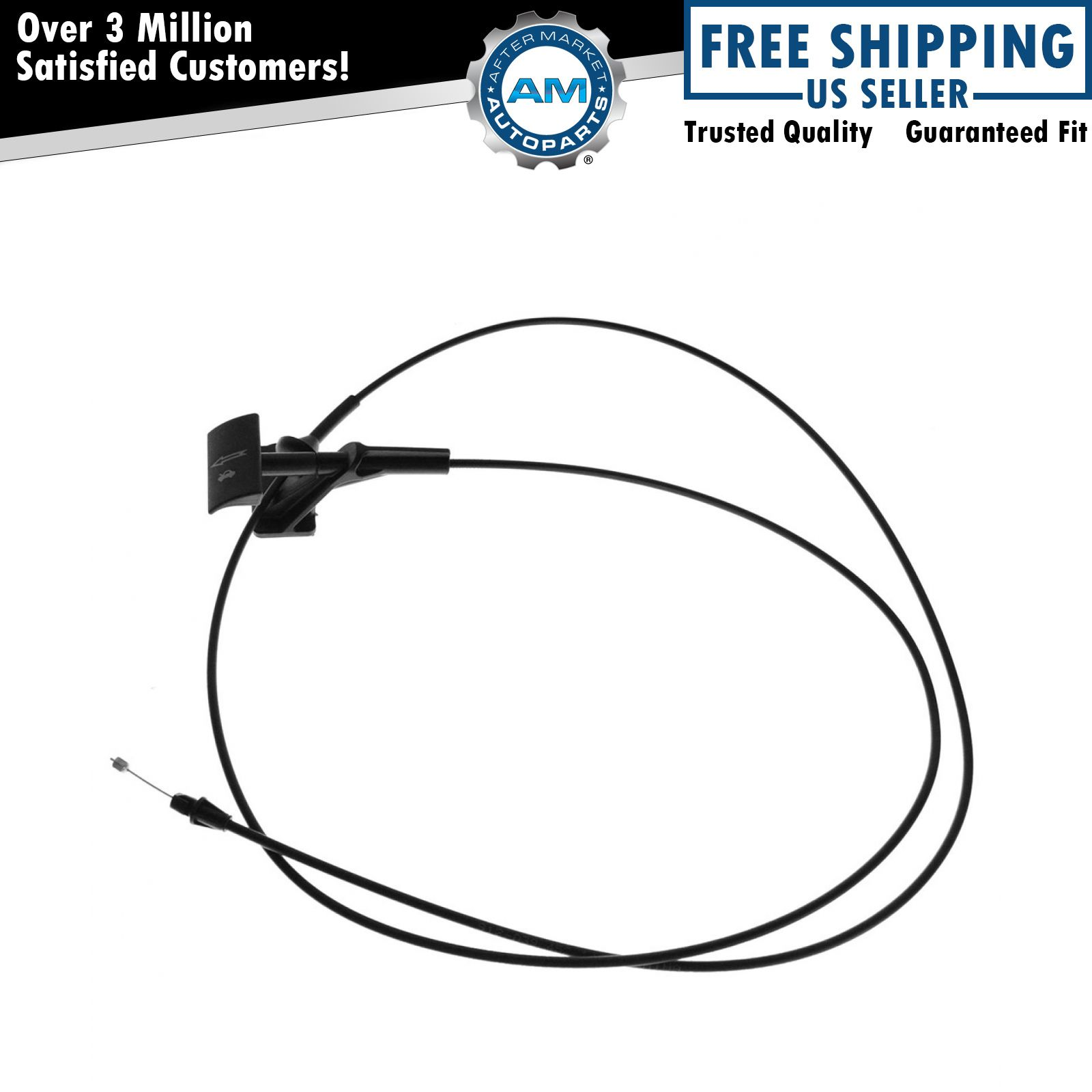 hood pop release cable with handle for ford f150 lincoln mark lt pickup truck