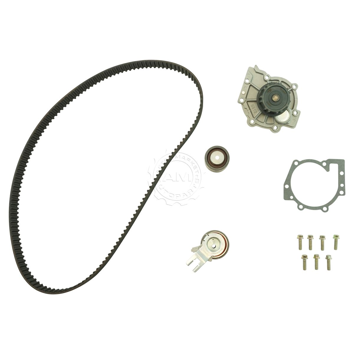 Gates tckwp319a timing belt with water pump kit for 01 02 volvo s80 2 9l