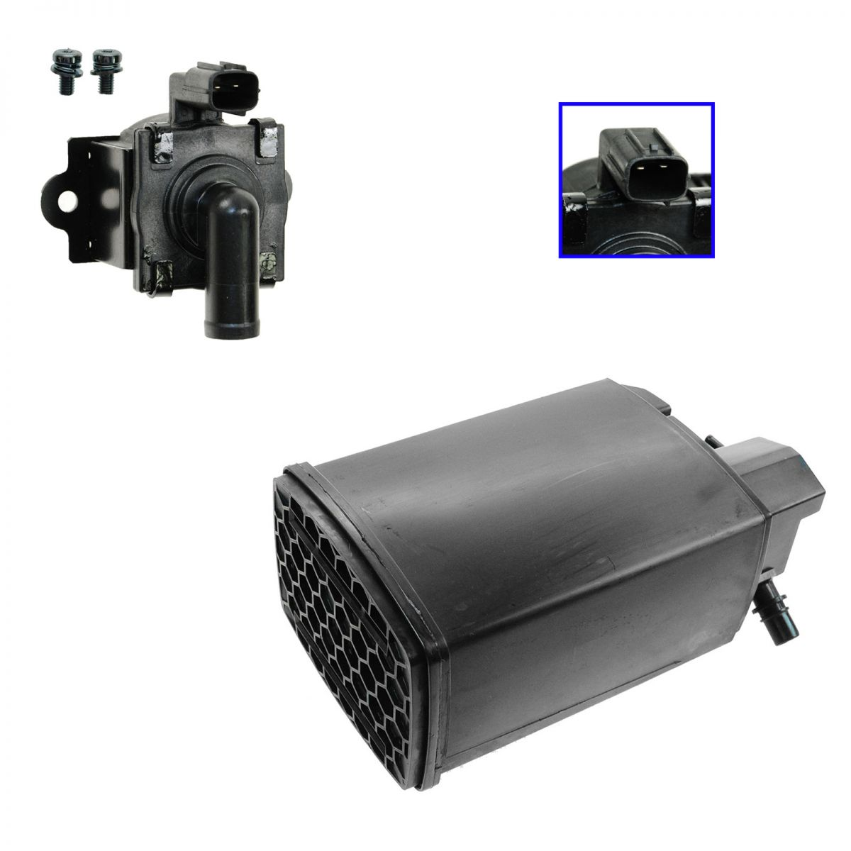 Emissions Fuel Vapor Charcoal Canister & Valve Kit For