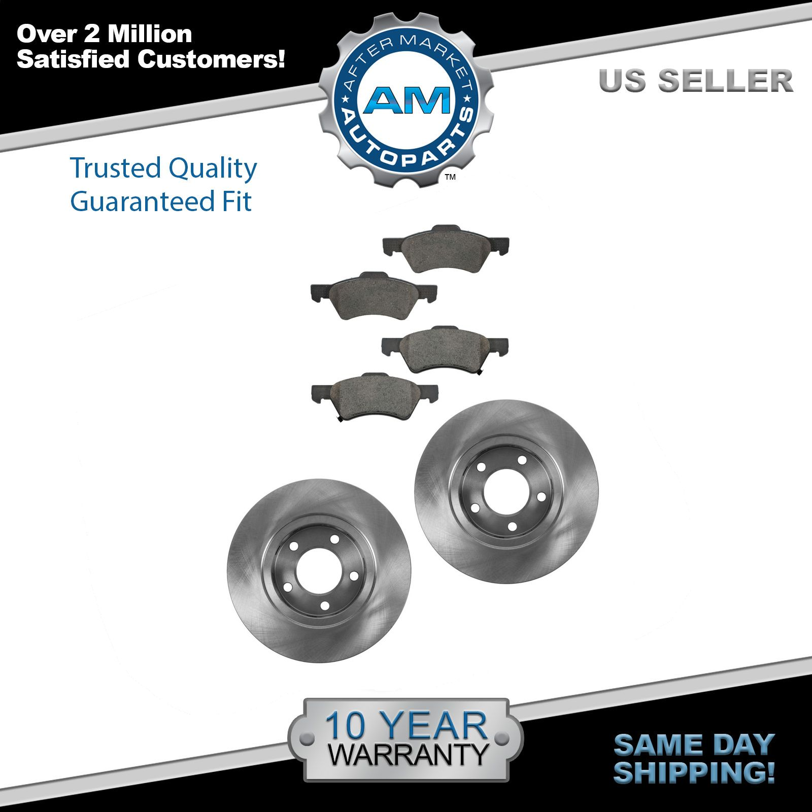 2016 Fits Jeep Cherokee North Rear Ceramic Brake Pads with Hardware Kits and Two Years Manufacturer Warranty