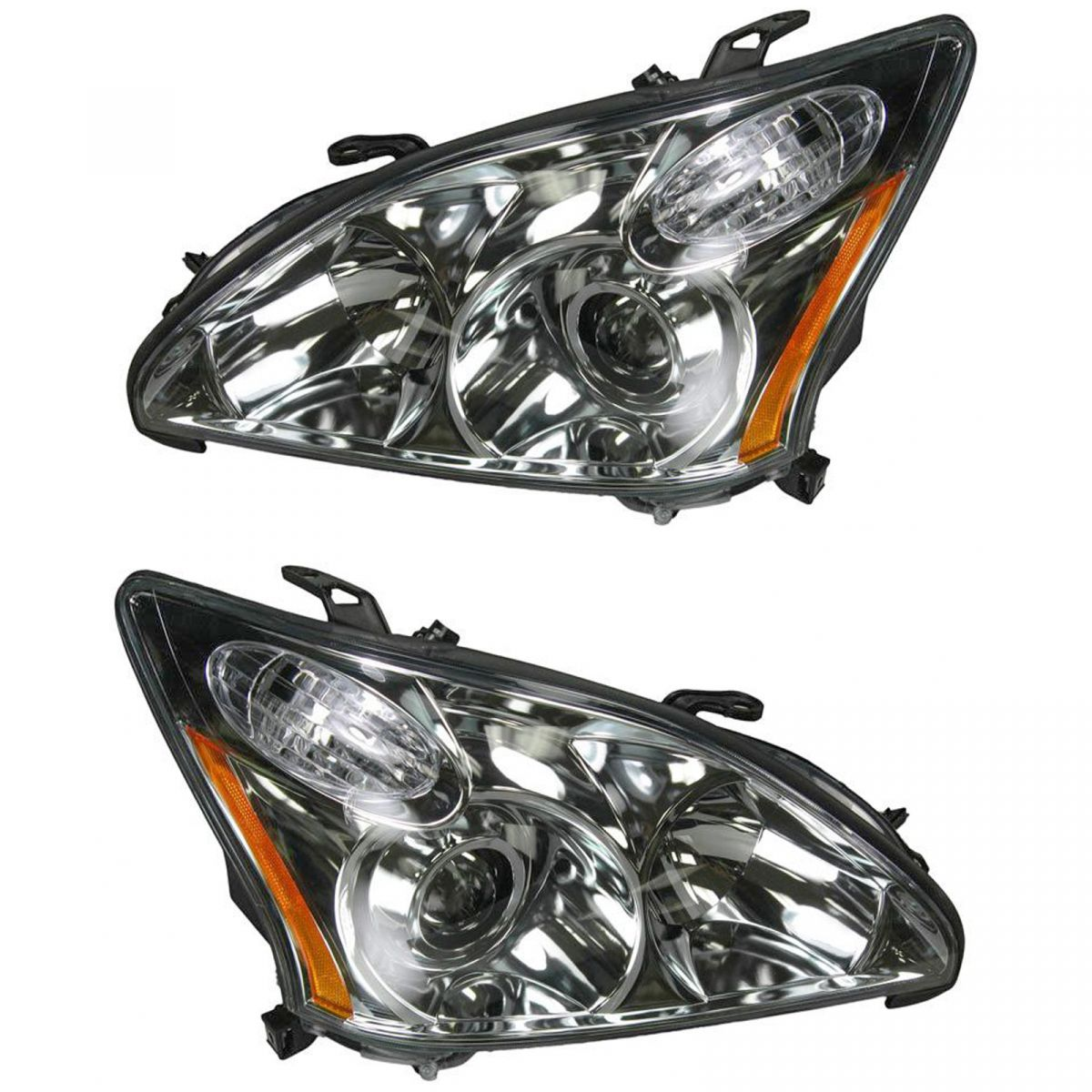 HID Xenon Headlights Headlamps Left & Right Pair Set for 04-06 Lexus RX330