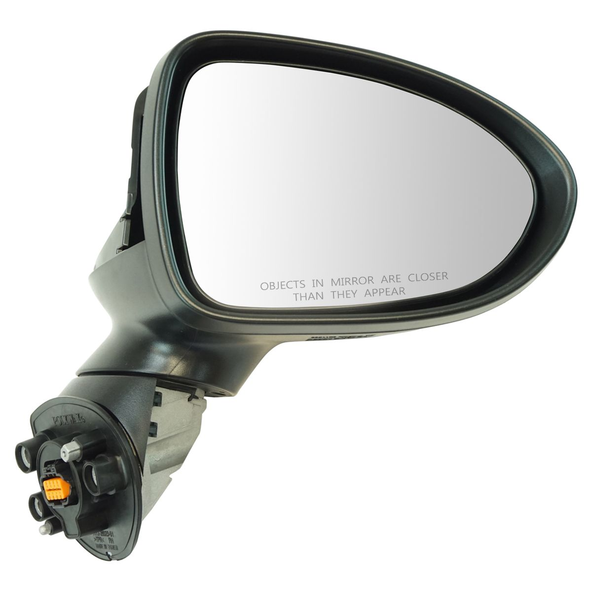 Mirror Power Folding Heated Signal Smooth Black Passenger Right RH for Kia Rio