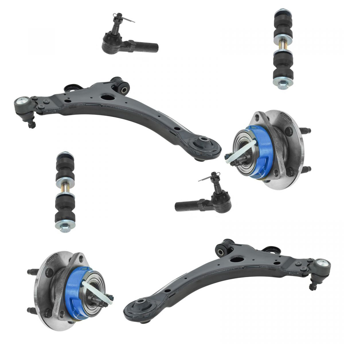 8 PCS Front Suspension Control Arm w// Ball Joint  Kit for Buick Pontiac Century