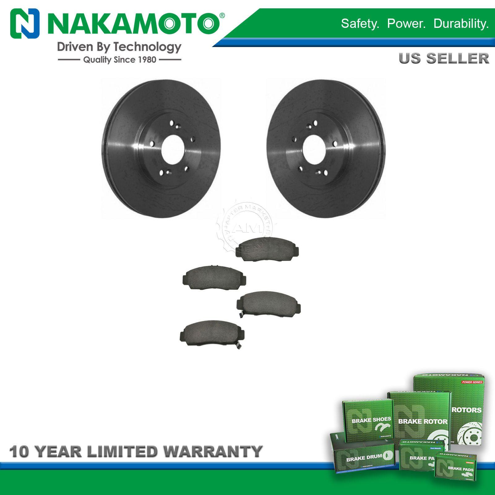 Nakamoto Front Premium Posi Ceramic Brake Pad & Rotor Kit for TL CL TSX  Accord