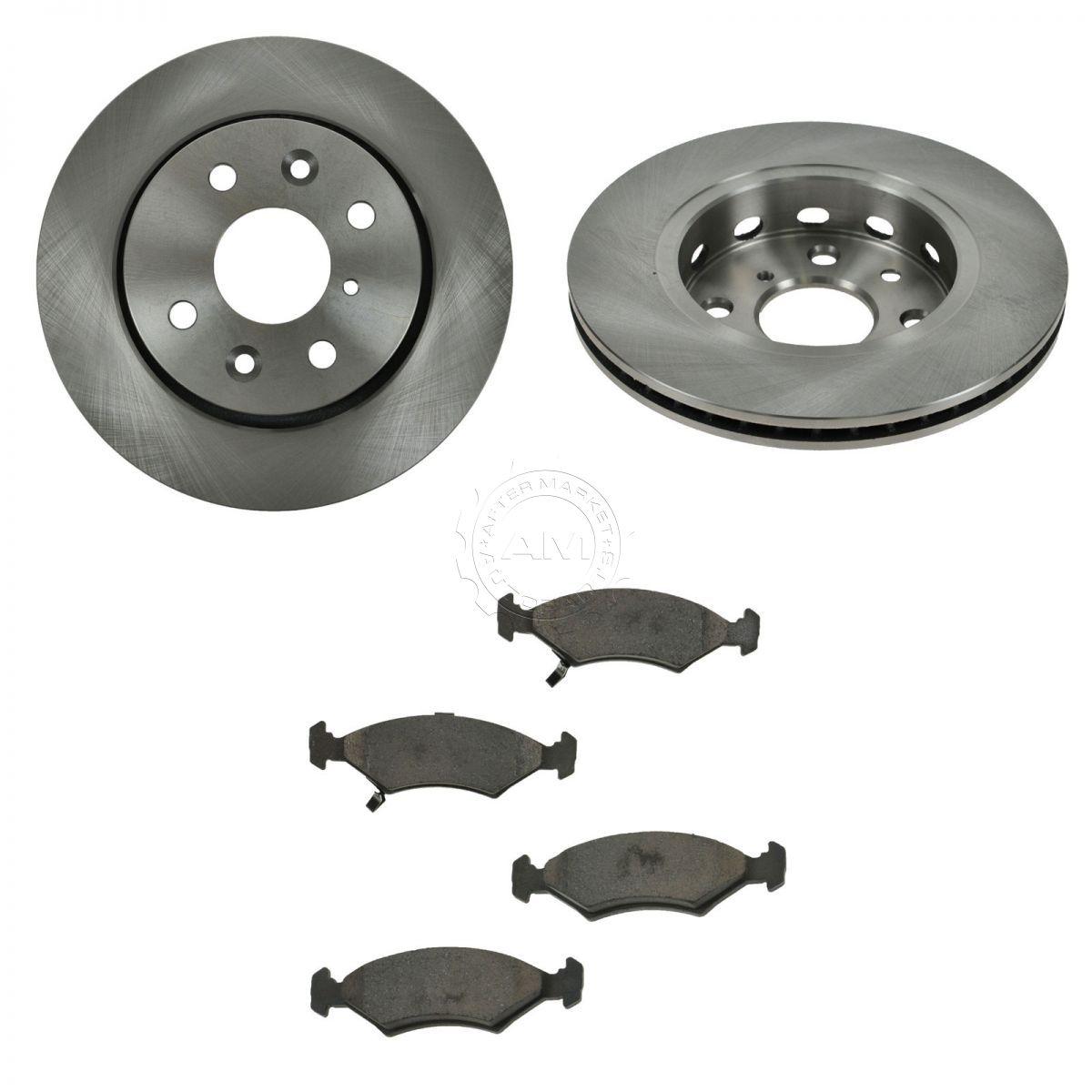 Brake Rotor Material : Front ceramic disc brake pads rotors kit set for kia