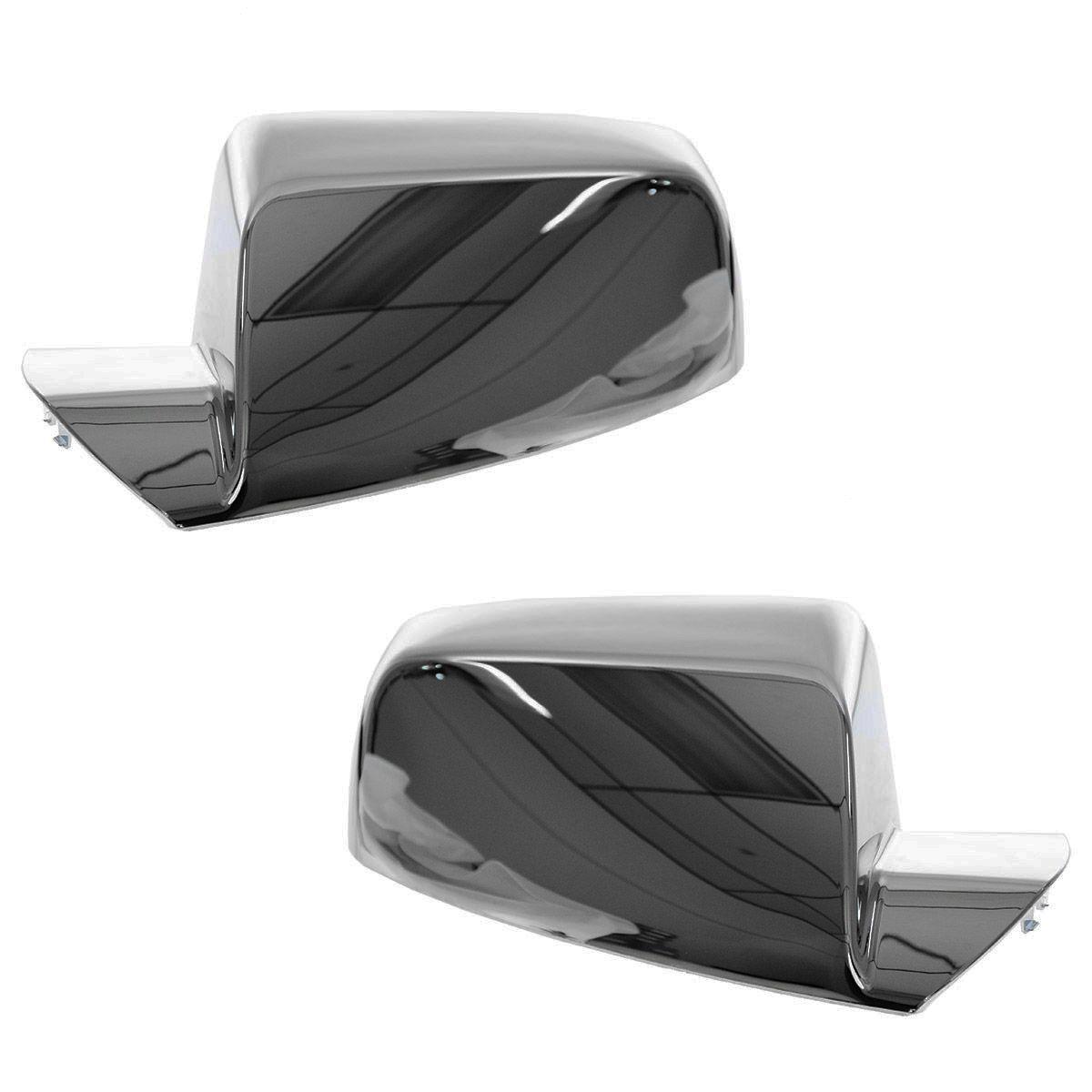 Chrome Mirror Cap Cover Upgrade Pair Set for 10 Chevy Equinox GMC Terrain