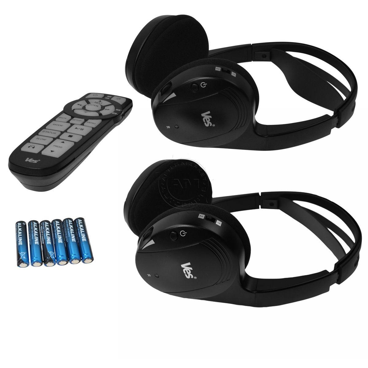 OEM 82213176 VES Wireless Headphones Remote Control Kit for Chrysler Dodge  Jeep