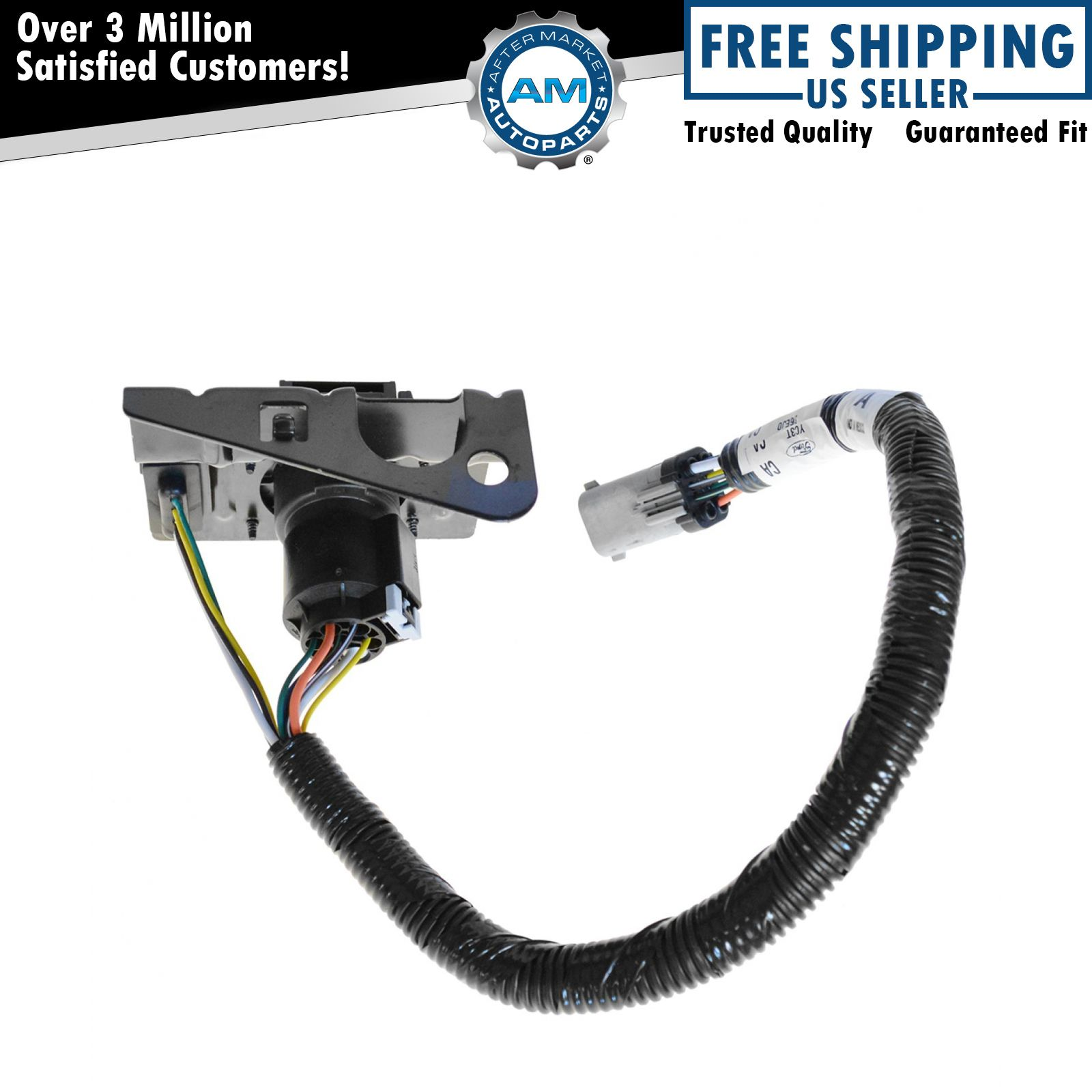 Ford 4  U0026 7 Pin Trailer Tow Wiring Harness W  Plug  U0026 Bracket For F250 F350 F450 Sd