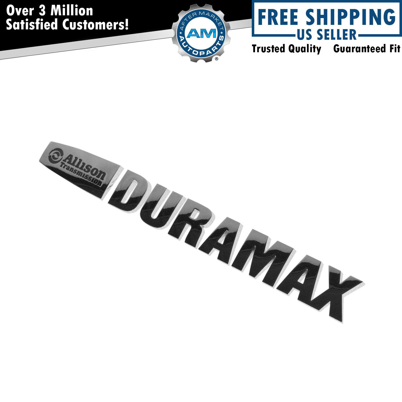 GM Allison Duramax Emblem Letter Set Chrome for 15 Chevy Silverado ...
