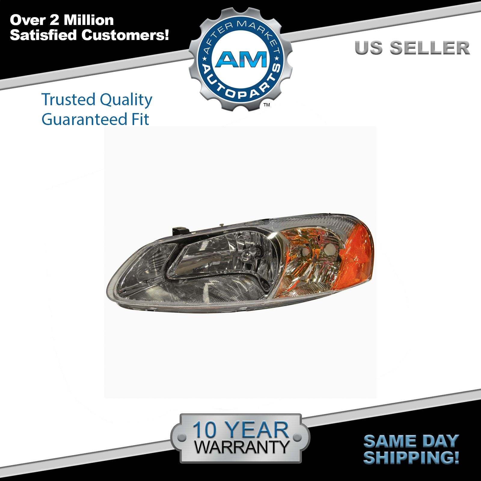 Headlight Headlamp Driver Side Left LH NEW for Dodge Stratus Chrysler Sebring