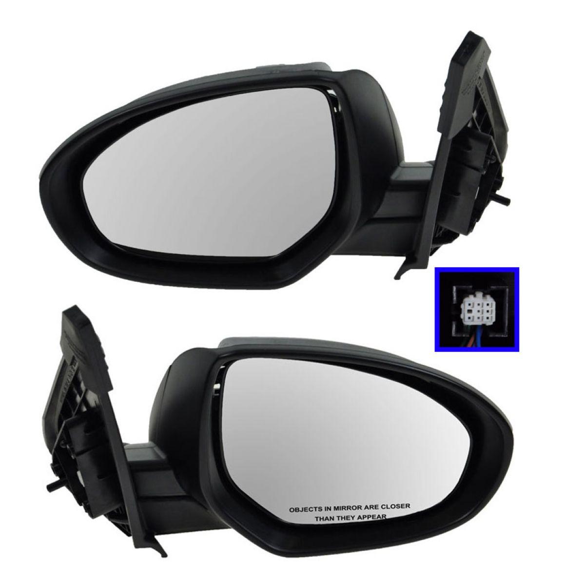 Mirror Power Smooth Black Passenger Side Right RH for 10-13 Mazda 3 Mazda3
