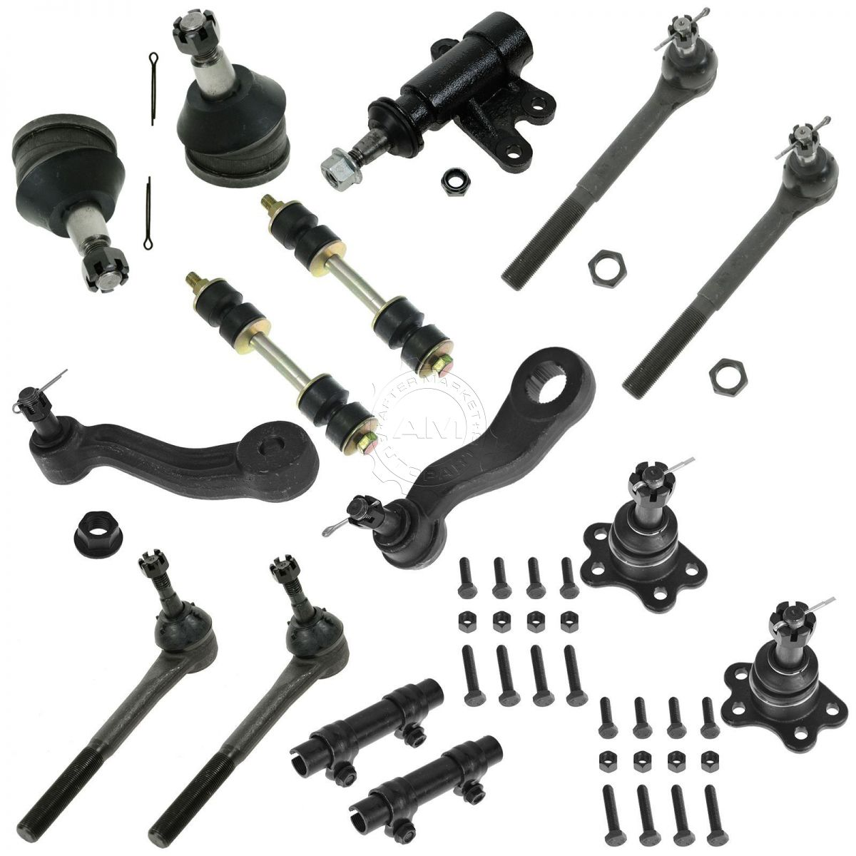 15 Piece Front Kit Ball Joint Sway Bar Tie Rid Idler Pitman Arm for Chevy GMC