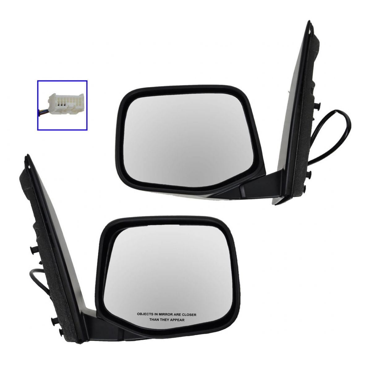 Side View Mirror Power Heated Black LH /& RH Pair Set of 2 for 11-13 Odyssey