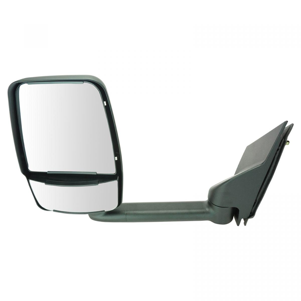 RH Pair of 03-17 Chevy Express Savana Van Textured Black Manual Tow Mirror LH