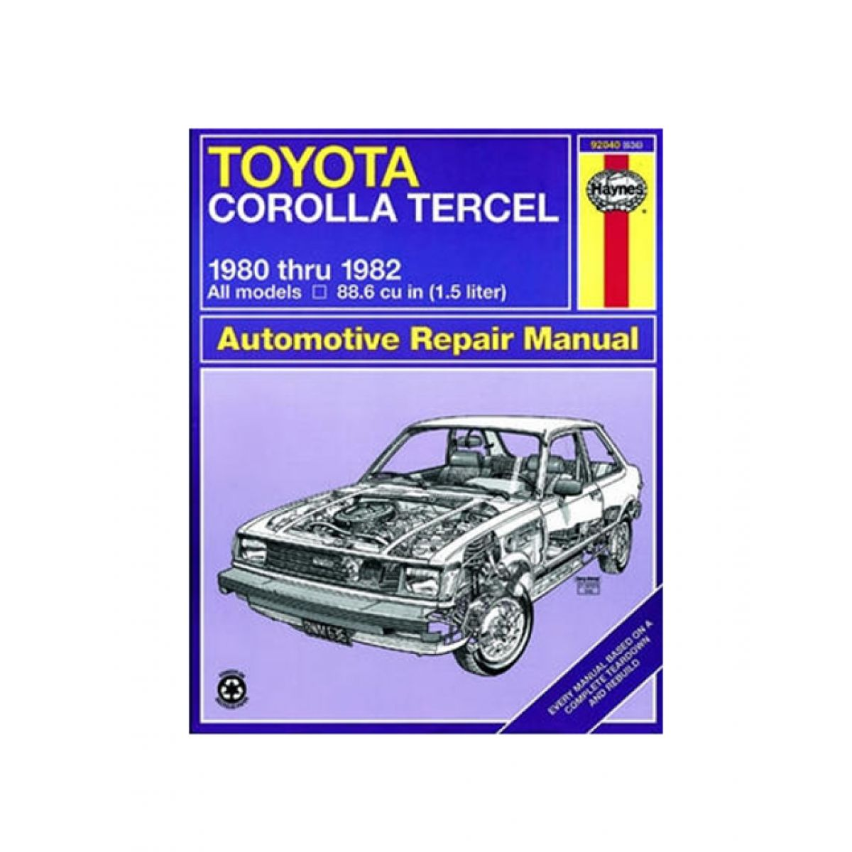 haynes repair manual for 1980 1982 toyota corolla tercel ebay rh ebay com  1995 Toyota Corolla Repair Manual 1997 Toyota Corolla Repair Manual