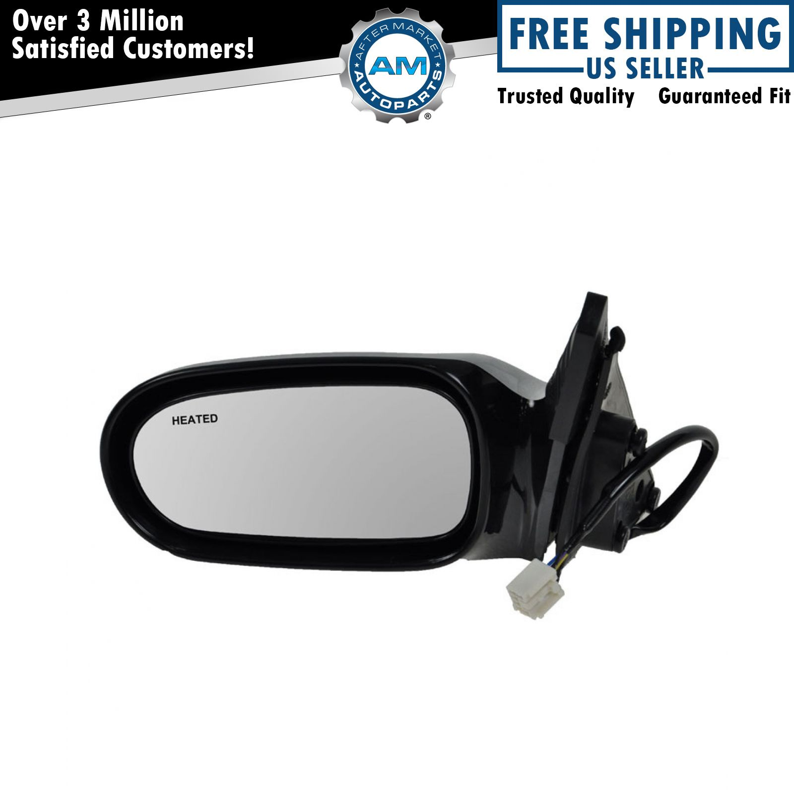 Power Heated Side View Mirror Driver Side Left Hand LH for 00-02 Mazda 626