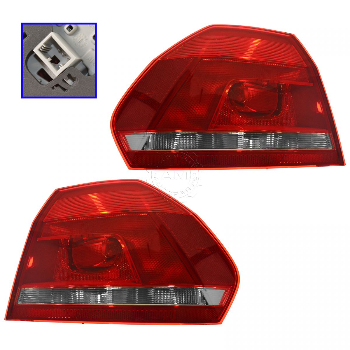 New Set Of 2 Left /& Right Side Fog Lamp Assembly Fits 2012-15 Volkswagen passat