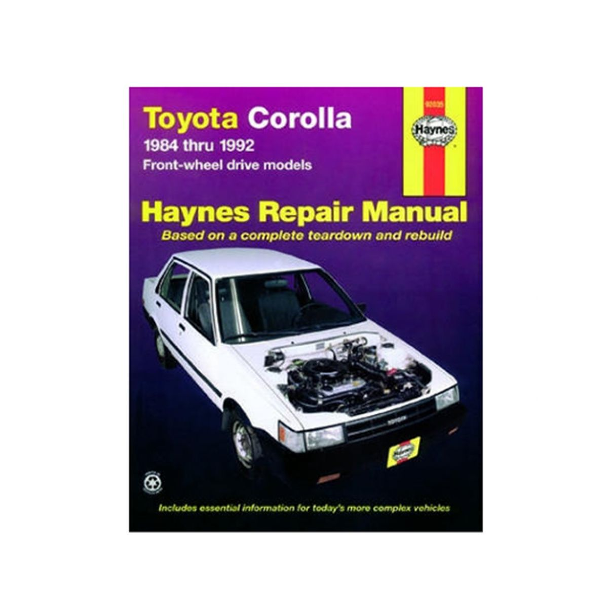 Haynes Repair Manual for Toyota Corolla 84-88 89 90 91 92