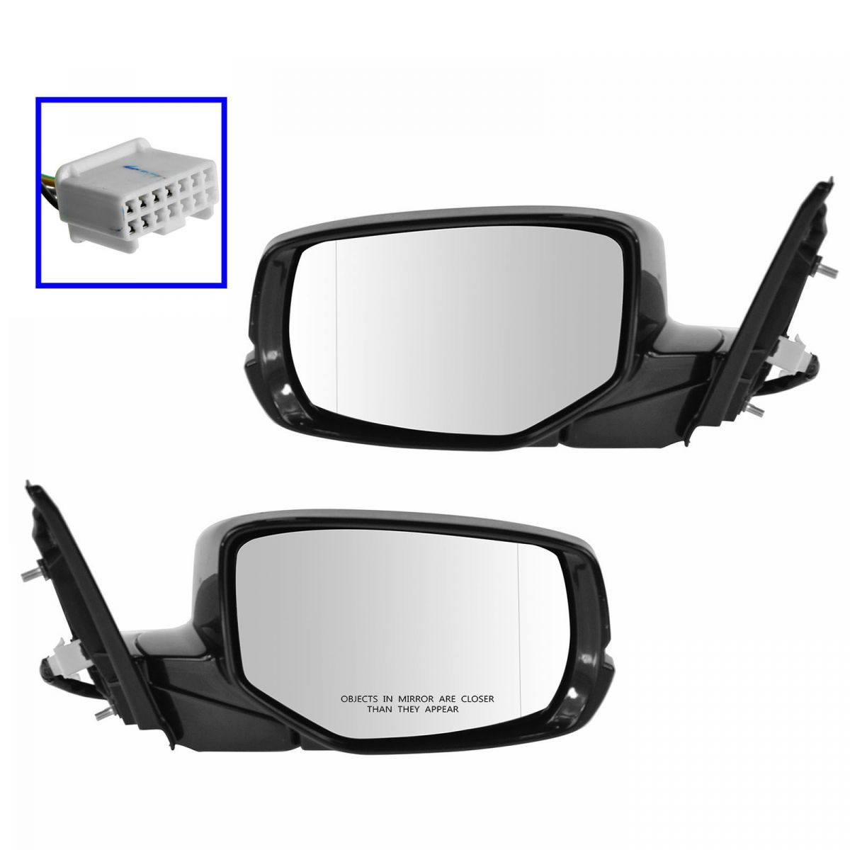 New Set of 2 Mirrors Left /& Right Side Heated Power Coupe LH RH For Honda Pair