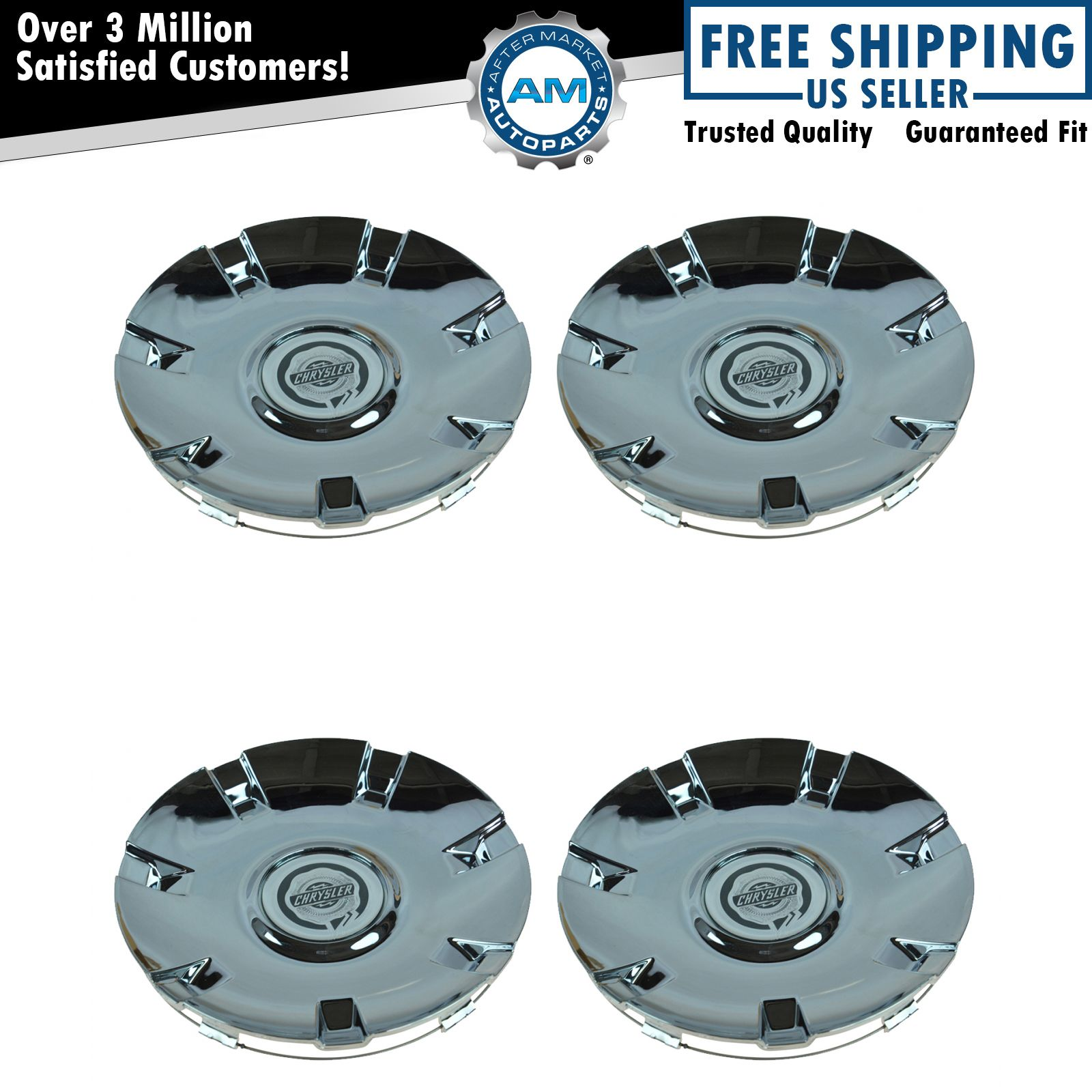 Chrysler Pacifica Rims For Sale: OEM Chrome Wheel Hub Center Cap Set For Chrysler Pacifica